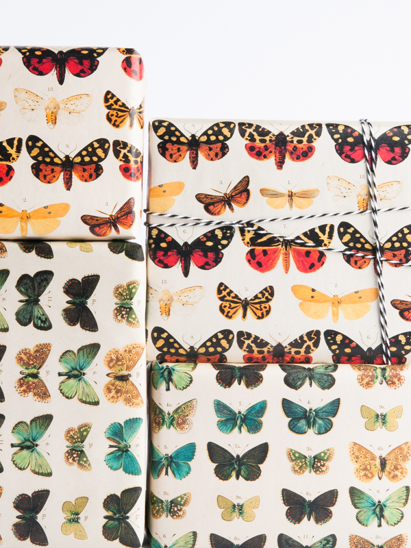 Butterfly Pattern Wrapping Paper