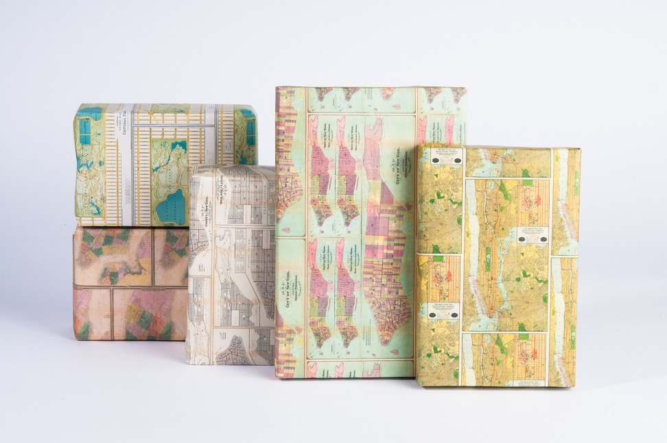 NYC Vintage Map Wrapping Paper