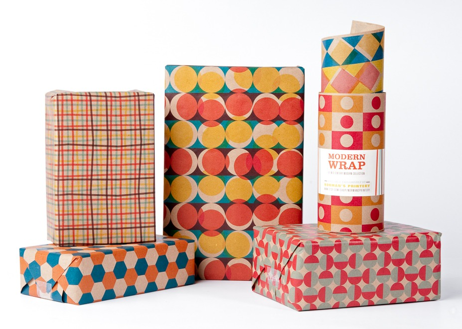 modern wrapping paper Looking for alternatives to wrapping paper one newspaper in  designer  creatively wraps gifts to look like grocery store packaging.