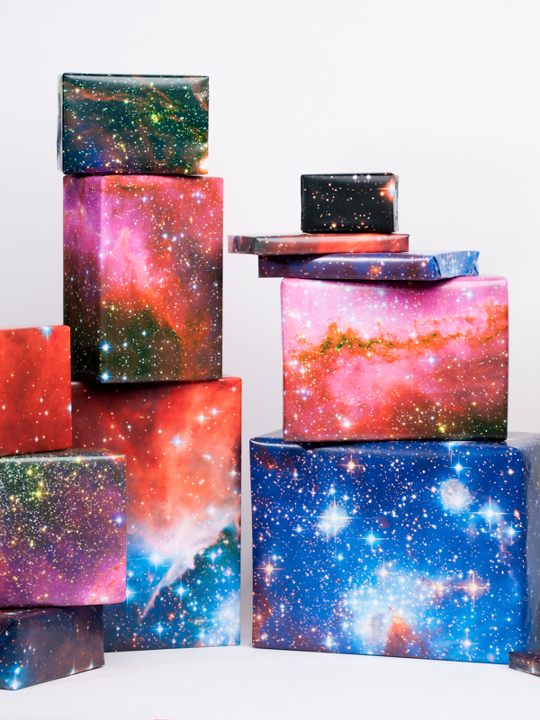 Galaxy Wrapping Paper Gift Wrap Super Nova Print