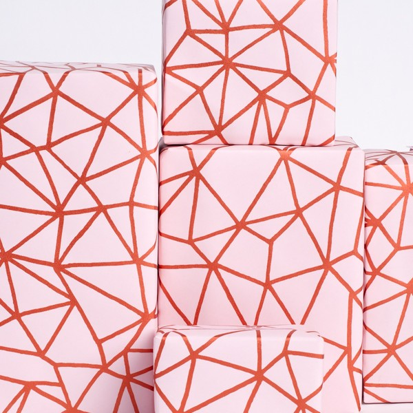 Organic Geometry / Rose-Copper wrapping paper