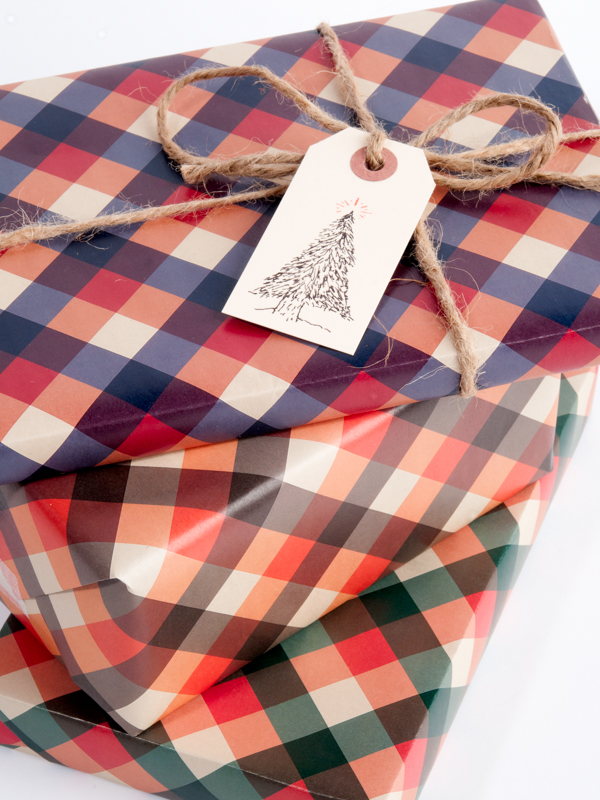Lumberjack Plaid gift wrap