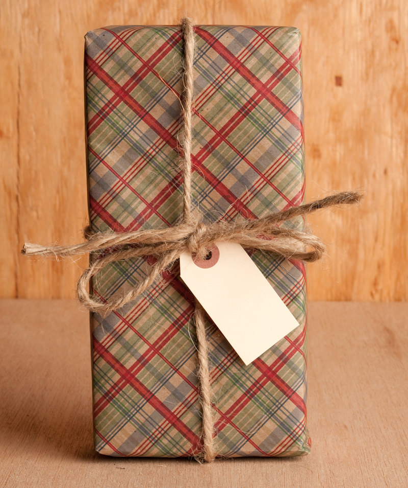 Country Plaid – Cranberry / Evergreen Wrapping Paper