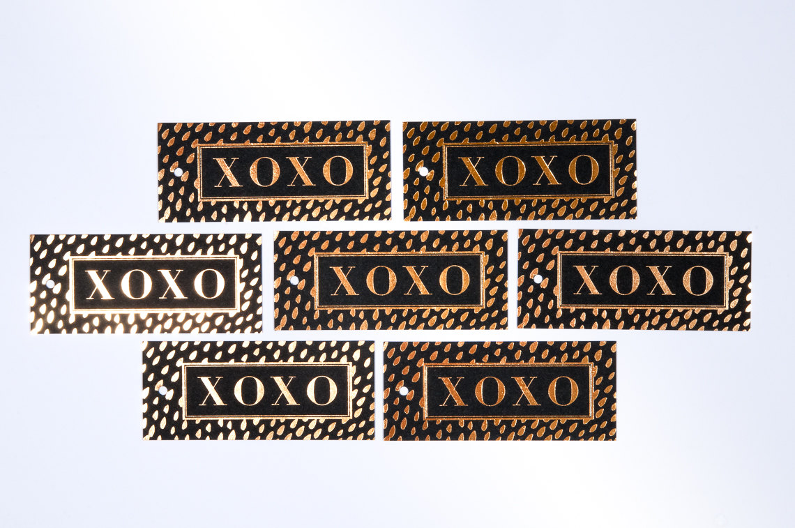 XOXO Brushed Dots Gift Tags