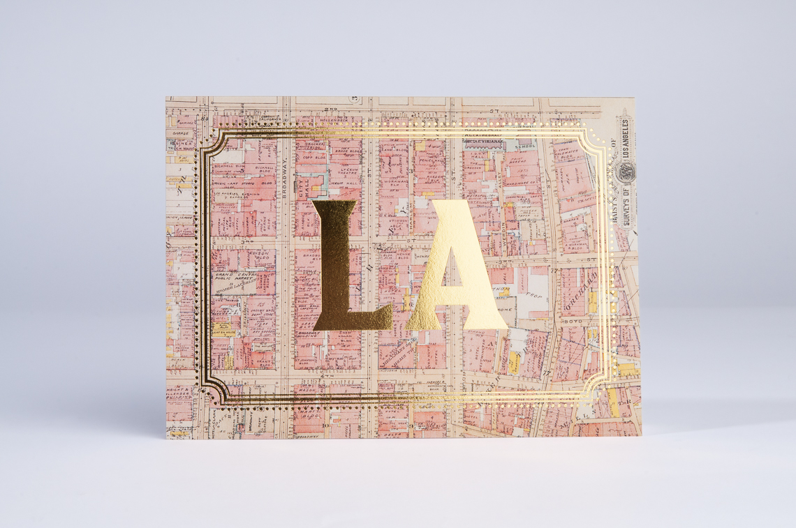 Los Angeles Gold Foil Cards