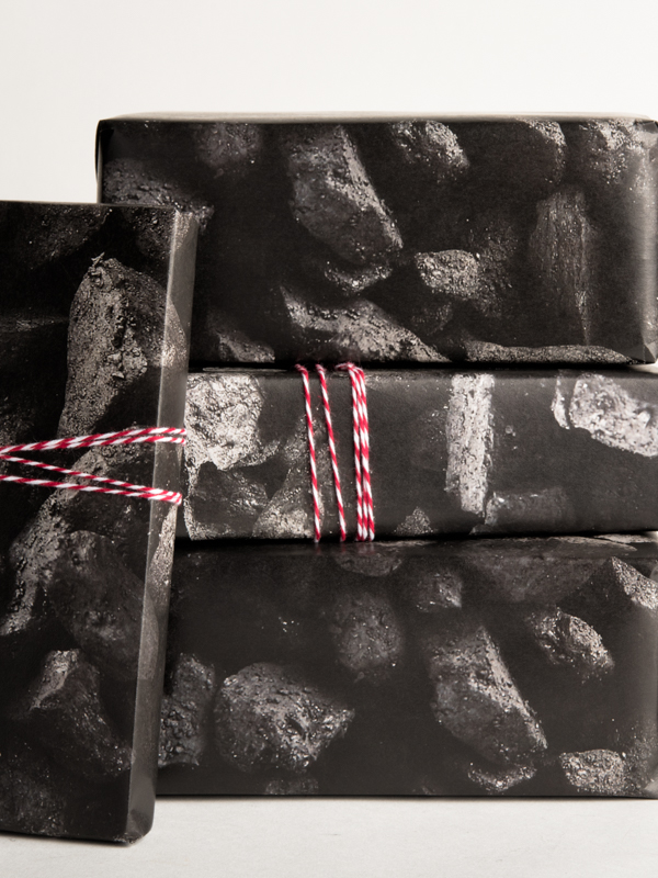 Coal Pattern Wrapping Paper