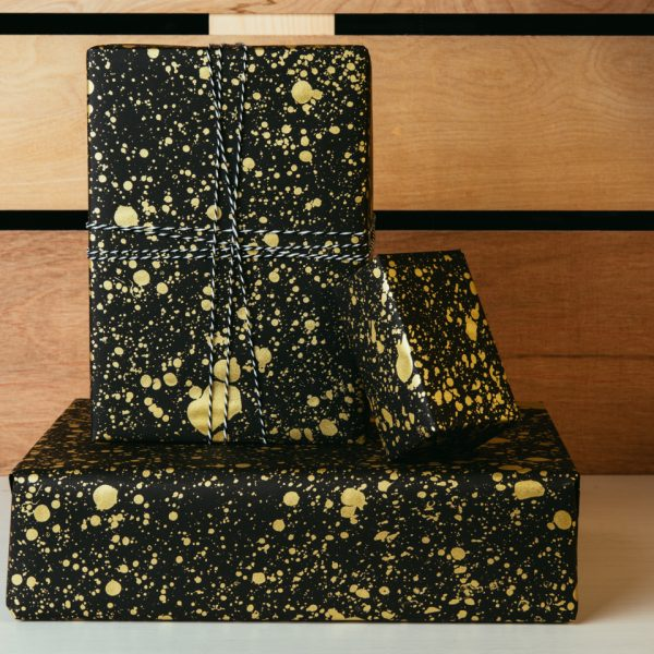 Gold Drops Gift Wrap