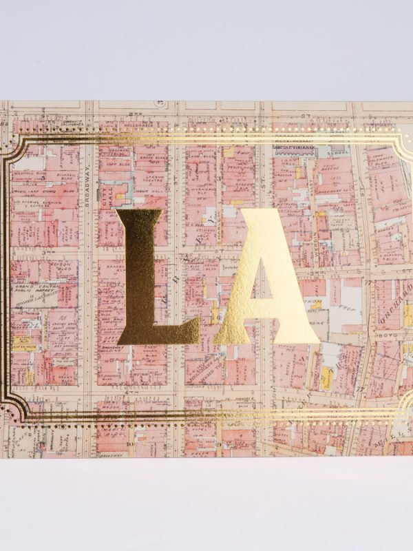 Los Angeles Gold Foil CardsLos Angeles Gold Foil Cards LA City California
