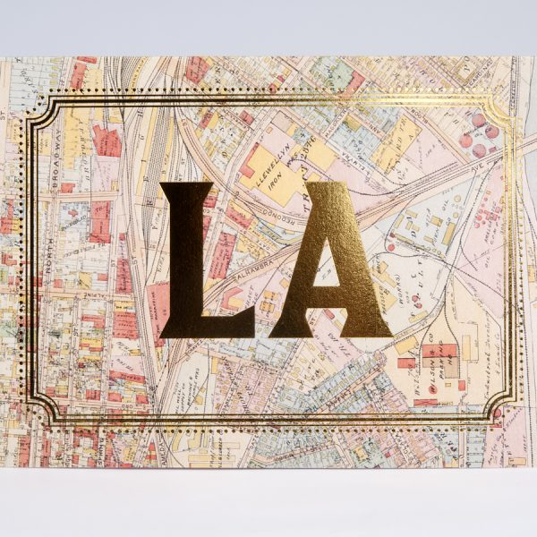 Los Angeles Gold Foil Cards LA City California