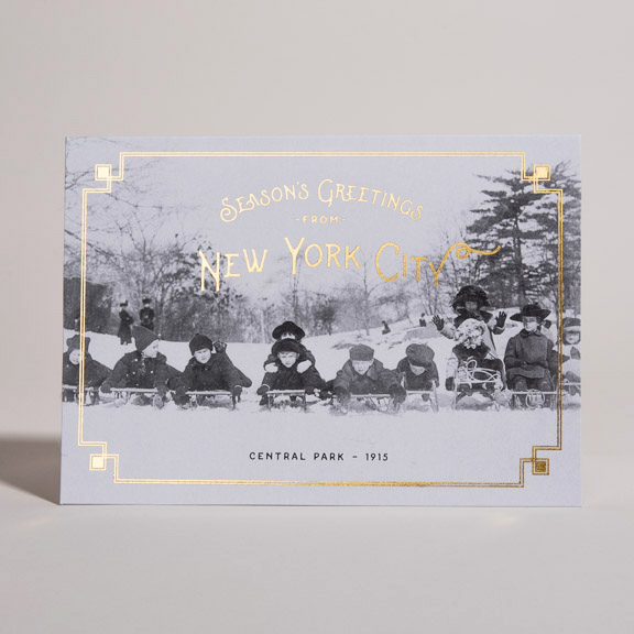Season's Greetings from New York City. Christmas Card, Central Park Card