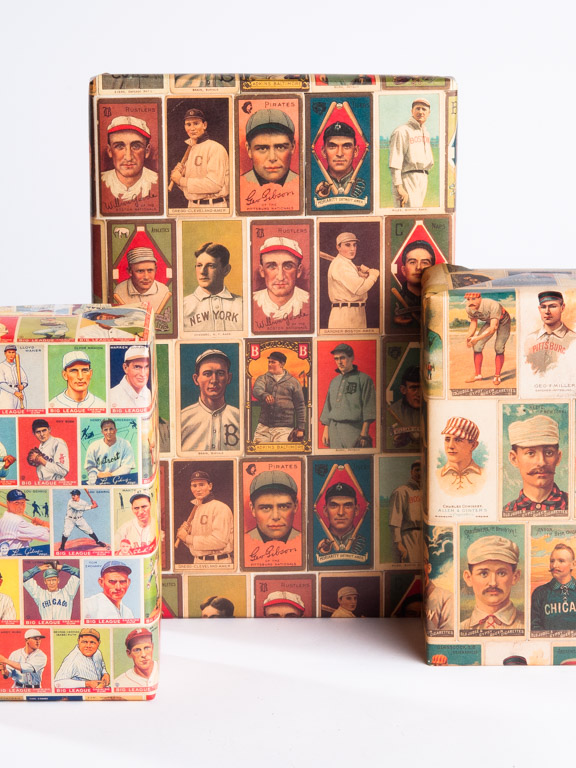 Vintage Baseball Gift Wrap, Vintage Baseball Cards, Gift Wrap, Wrapping Paper, Gift