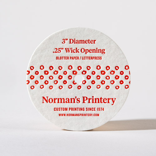 Candle Dust Cover Custom Printing Label