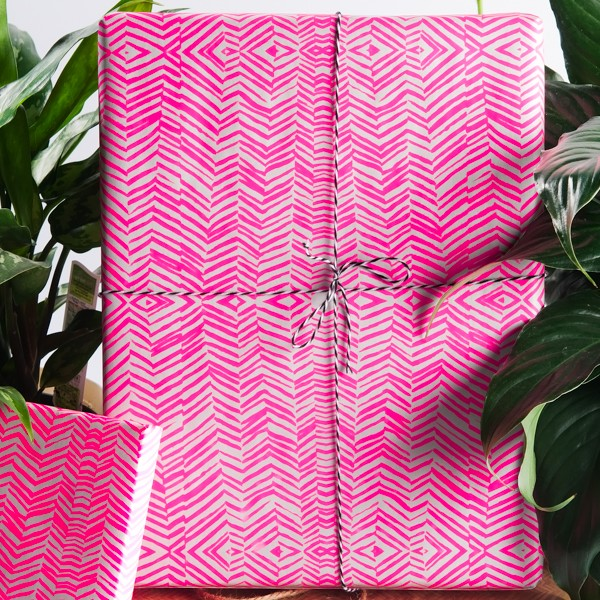 Neon Pink Wrapping Paper