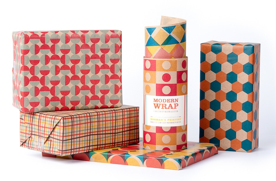 Mid-Century Modern Gift Wrap