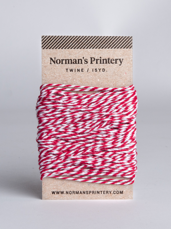 Bakers Twine Red White
