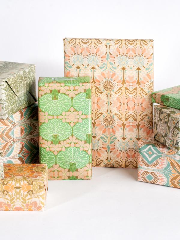 Spring / Summer Art Nouveau gift wrap