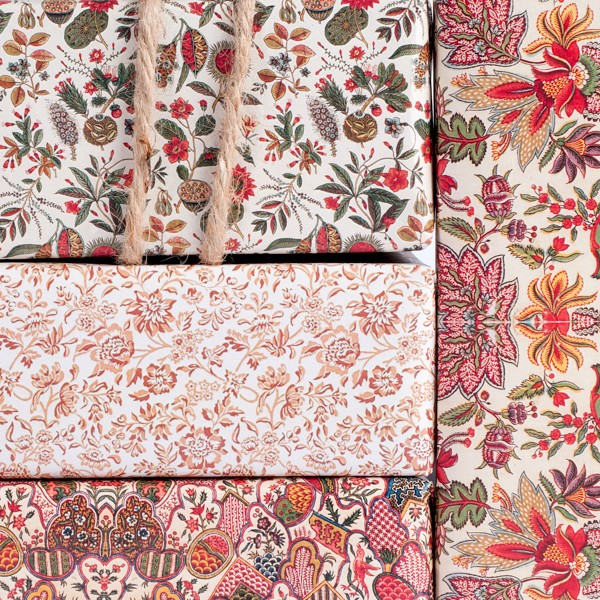1800's English Pattern Red wrapping paper