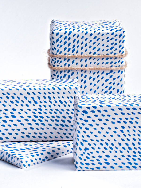Brushed Dot Pattern Wrapping Paper