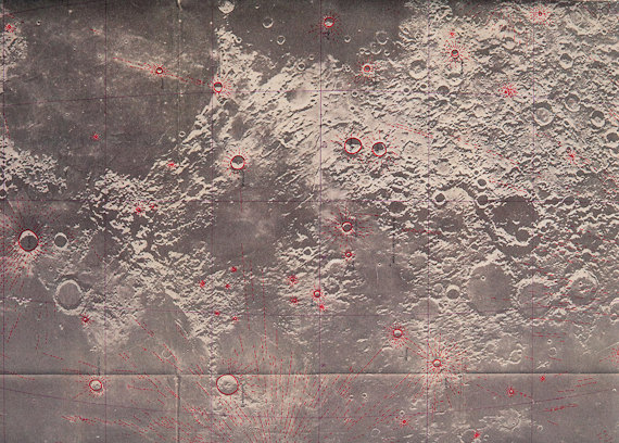 Moon Map gift wrap