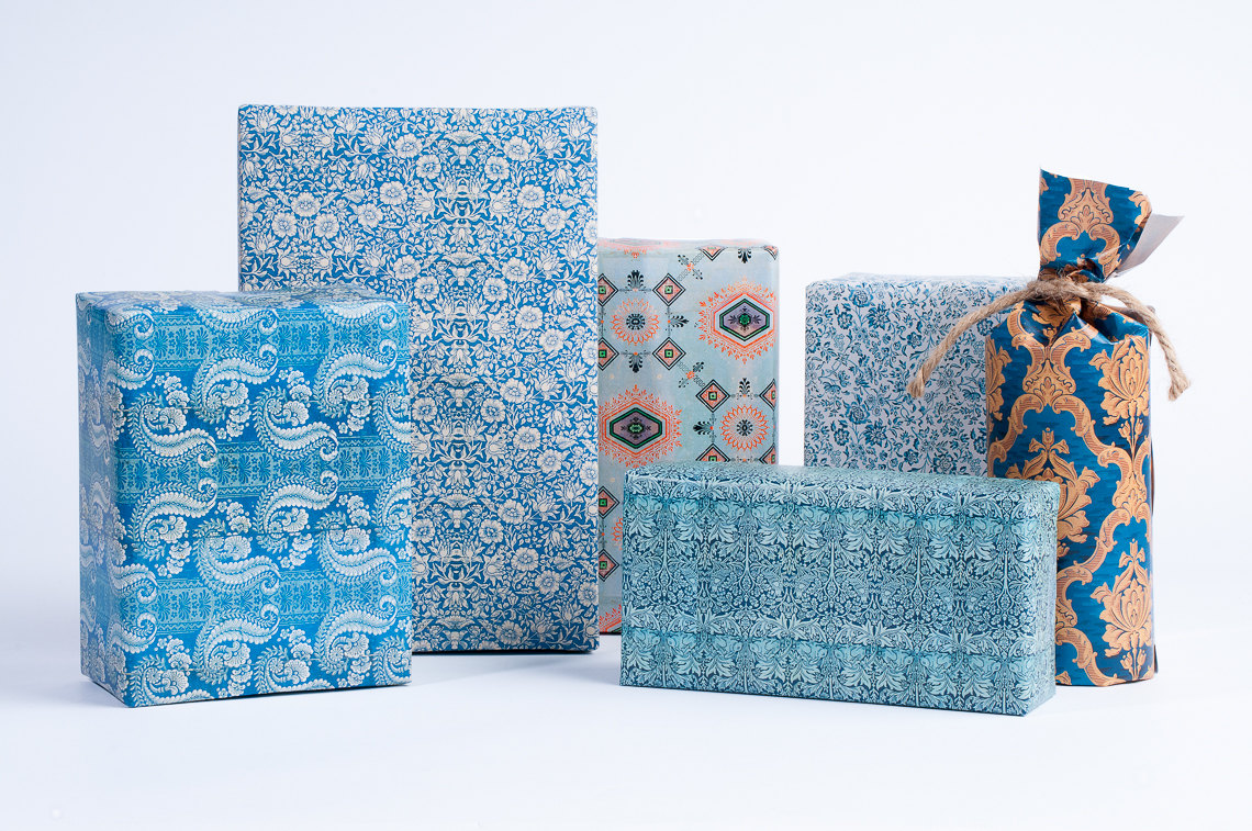 1800's English Pattern blue wrapping paper