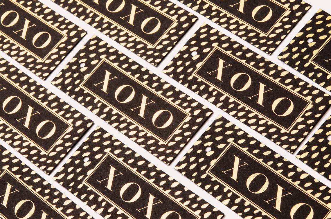 XOXO Brushed Dots Gift Tags