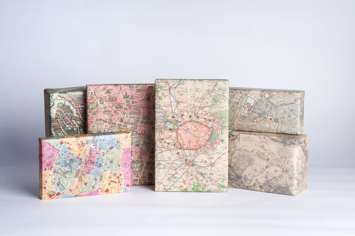 Paris Maps Gift Wrap
