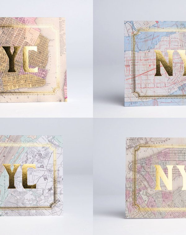 NYC Gold Foil Cards