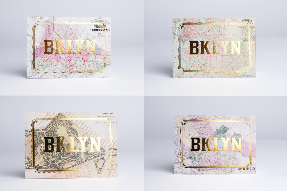 Brooklyn Gold Foil Cards