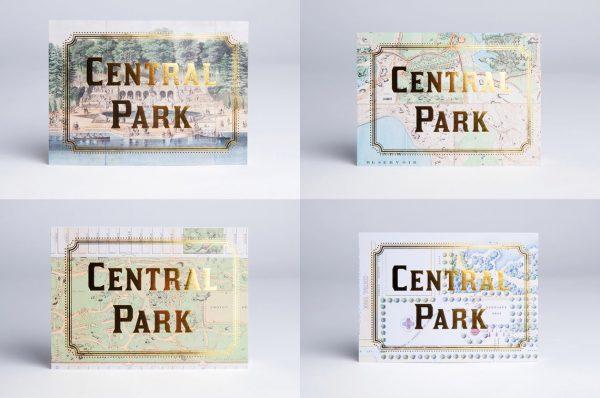 Central Park Gold Foil Cards