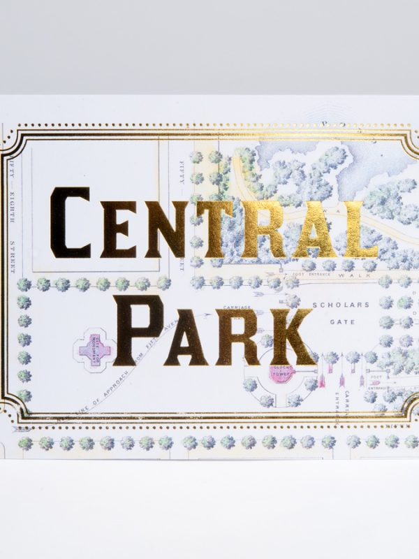 Central Park Gold Foil Cards Central Park Map