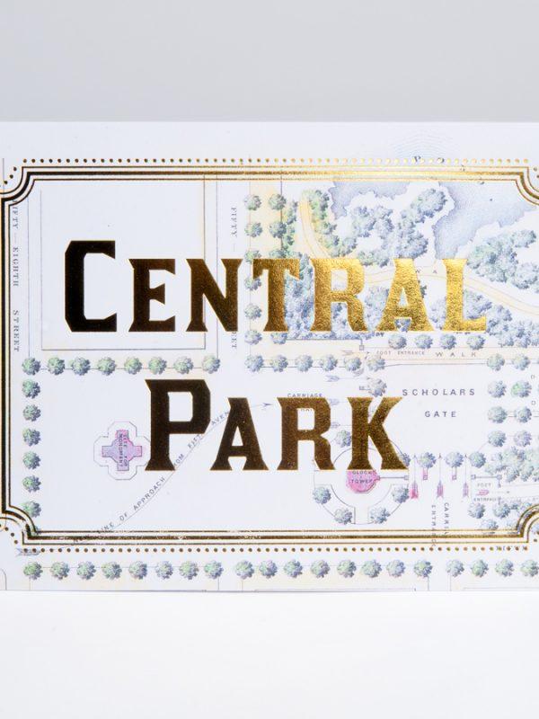 Central Park Gold Foil Cards Central Park Map