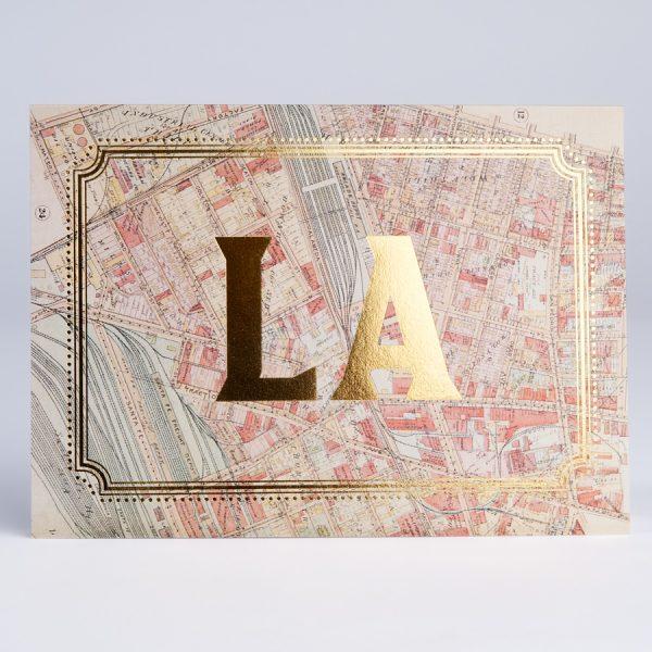 Los Angeles Gold Foil Cards LA City California