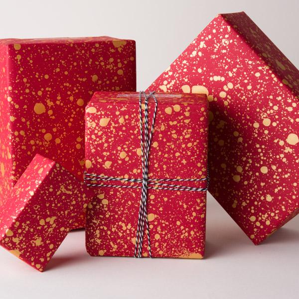 Screen Printed Gift Wrap