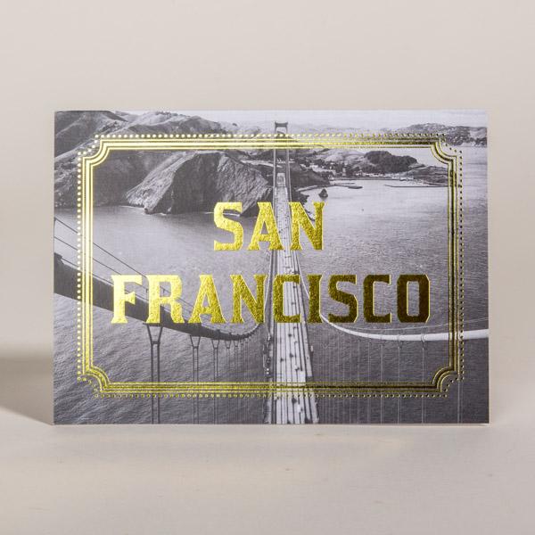 San Francisco Map Foil Stamp Card