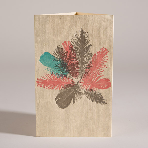 April Calendar,Feathers,Letterpress,Norman's Printery