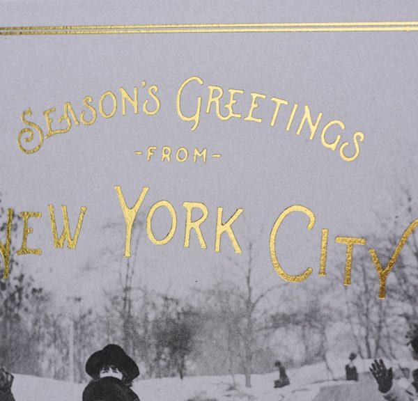 Season's Greetings from New York City. Christmas Card, Central Park Card