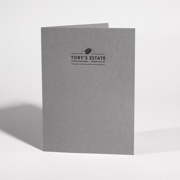 Letterpress Information Card Toby's Estate Coffee