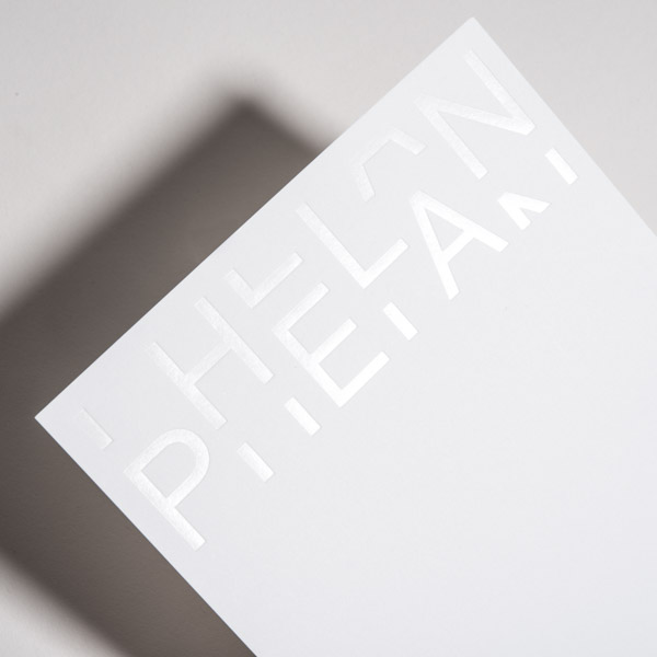 White on White Foil Card