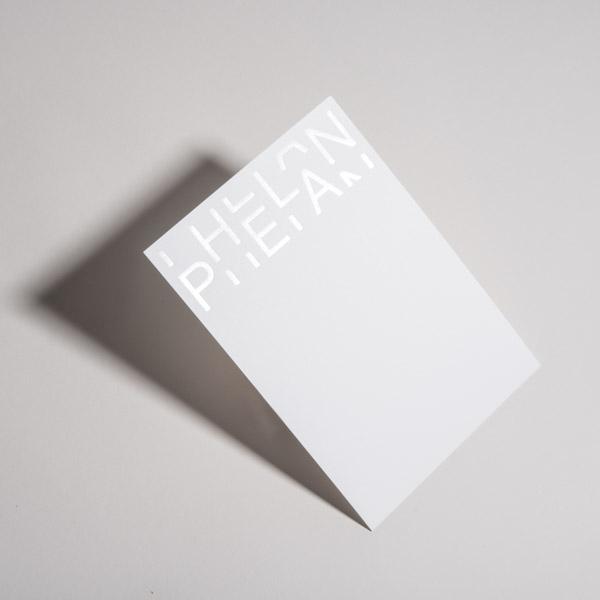 White Foil Stamping Custom Print