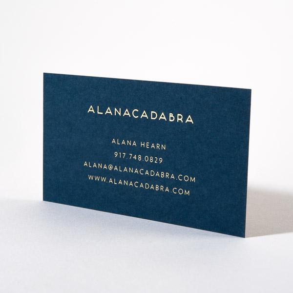 Gold Foil Blue Business Card