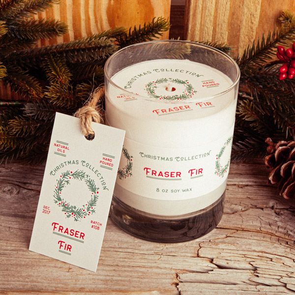 Candle Dust Cover Label Hangtag Custom Printing Packaging Design