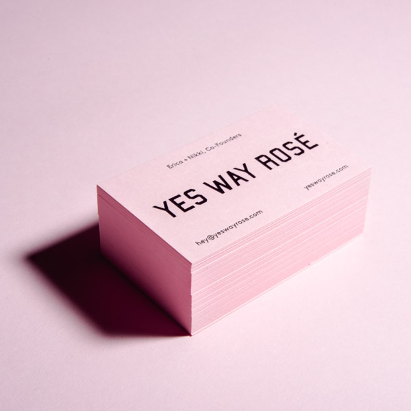 Yes Way Rosé Business Cards