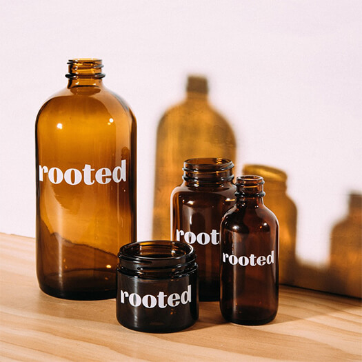 Rooted Brown Glass Printing Bottle | Norman's Printery